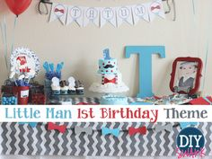 Sharing my Little Man's First Birthday party. This Little Man First Birthday Party Theme was perfect for my little guy and I love the way it turned out..