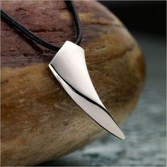 Unique R Silver Steel Spear Men Necklace Pendant | RnBJewellery