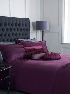 The colour purple: Pied a Terre Caro bedlinen, from £12, House of Fraser