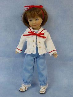 "Ahoy Sailor Outfit for 8"" Mari Dianna Effner Heartstring Doll by Apple"