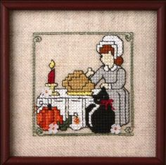 Itty Bitty Kitty - Thanksgiving (chart with charms/buttons) The Sweetheart Tree