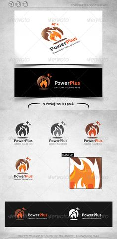 Power Plus  Logo Template — Vector EPS #industry #group • Available here → https://graphicriver.net/item/power-plus-logo-template/6045800?ref=pxcr