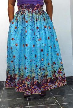 African print maxi skirt #Handmade #MaxiSkirt