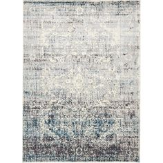Unique Loom Cambridge Myrtle Light Blue 2 x 5 Area Rug 3130861 - The Home Depot Floral Area Rugs, Beige Area Rugs, Myrtle, Cambridge, Quality Carpets, Synthetic Rugs, Light Blue Area Rug, Rug Material, Brown Floral