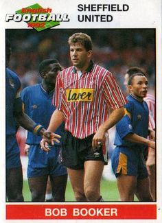 SHEFFIELD UNITED - Bob Booker 193 PANINI English Football 1992 Collectable Sticker