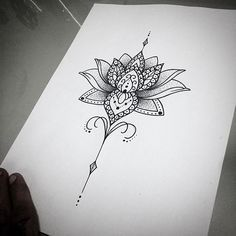 Image Source for mandala tattoo female - tatoo feminina Unalome Tattoo, Lotusblume Tattoo, Tattoo Dotwork, Hand Tattoo, Piercing Tattoo, Wrist Tattoo, Tattoo Music, Piercings, Sternum Tattoos