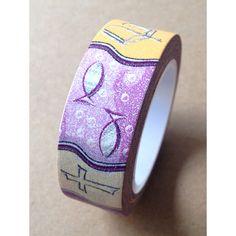 Love My Tapes Washi Tape Purple Christian Symbols