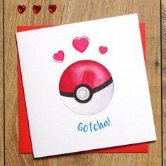 Pokemon Engagement Card - Pokemon Go Card - Gotcha! - I Choose You - Pokemon Wedding Card - Nerd Engagement Card - Congratulations Card by Jessica Scissorhands on Etsy Homemade Gifts For Boyfriend, Diy Gifts For Him, Boyfriend Gifts, Boyfriend Canvas, Cute Presents For Boyfriend, Pokemon Go Cards, Pokemon Gifts, Congratulations Quotes, Valentine Day Cards
