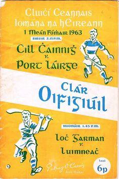1963 All Ireland Final Kilkenny v Waterford Ireland, Posters, Bar, Sport, Books, Vintage, Deporte, Libros, Sports
