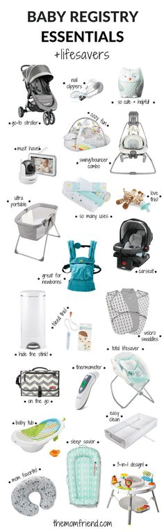 The moms have spoken! These are the best baby registry must haves, including all the baby registry essentials and lifesaver that you don't want to forget. The Mom Friend surveyed real moms to find out what baby gear and newborn necessities they love most so you can create the perfect registry.