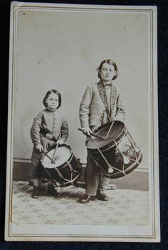 CDV of Civil War Era Drummer Boy Brothers.  *s*