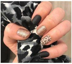 Fancy Nails, Cute Nails, Pretty Nails, Bling Nails, Nail Color Combos, Nail Colors, Leopard Print Nails, Cheetah Nail Designs, Nail Manicure