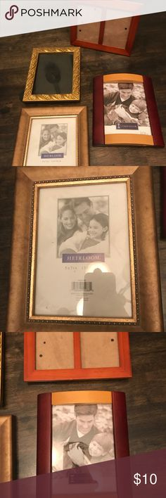 Bundle of (4) picture frames 5x7 Great condition Other