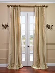 Half Price Drapes Tulare Silk Taffeta Stripe Curtain  , #HalfPriceDrapes  , #TaffetaStripeCurtain