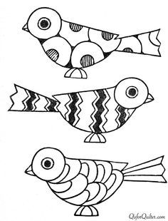 Embroidery Patterns art deco birds from paint book Mosaic Patterns, Embroidery Patterns, Hand Embroidery, Colouring Pages, Coloring Books, Painted Books, Art Plastique, Bird Art, Fun 2 Draw