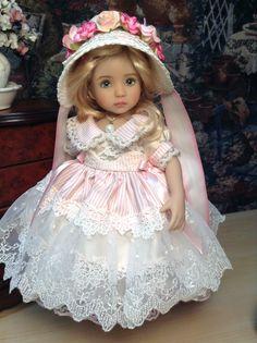 "Dianna Effner Little Darling Doll ""Silk and Bows "" with Regency Bonnet Ensemble | eBay"