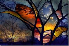 how to do trees in stain glass - Google Search