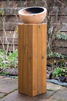 tschessilicious: Heimwerken Deluxe: Holzsäule für den Garten