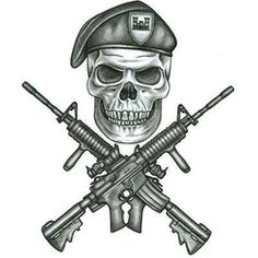 Military Tattoos on Army Infidil Tattoo Design Tattoowoo Com skull guns tattoo flash art ~A. Skull Tattoo Design, Skull Tattoos, Body Art Tattoos, Tattoo Designs, 3d Tattoos, Tattoo Ink, Tattos, Sleeve Tattoos, Us Army Tattoos