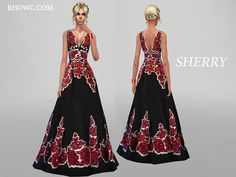 SHERRY GOWN by RHOWC at TSR via Sims 4 Updates