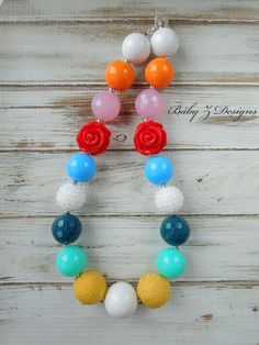 M2M Matilda Jane Good Hart Collection Chunky Necklace - Fits Toddlers, Girls, or Teens.. $18.00, via Etsy.
