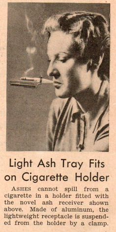 Cigarette/ashtray. Say what?!