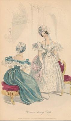 1833 - Dinner or Evening Dress - Court Magazine