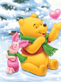 Download Animated 240x320 «Pooh & Friend» Cell Phone Wallpaper. Category: Holidays