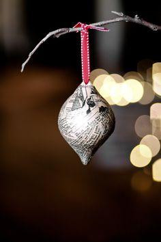 Newspaper ornament.