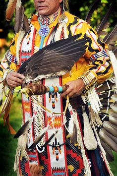 native American dancer arrow of light 2, via Flickr.