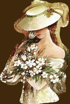 les meli melo de mamietitine - Page 9 Images Vintage, Vintage Pictures, Art Pictures, Vintage Art, Vintage Ladies, Vintage Paintings, Images D'art, Decoupage Vintage, Victorian Art