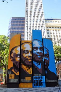 Orticanoodles New Mural (with Gilberto Gil) @ Rio, Brazil