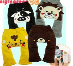 2013 Winter Fashion Cute Toddler Girls Boys Anime Cotton Fleece PP Pants Warm 80-90-100 Wholesale 24pc EMS Shipping $75.00
