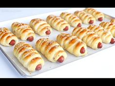 I have to admit, I'm not much of a hot dog person–but THESE sausage buns? Oh man, I could eat 2 of them to myself, in one sitting. Some may argue and call these beauties, pigs in a bl. Sausage Bread, Best Sausage, Sausage Rolls, Soft Bread Recipe, Pretzel Dogs, Homemade Soft Pretzels, Canned Biscuits, Bakery Recipes, Dough Recipe