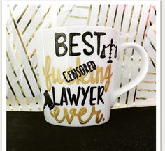 A personal favorite from my Etsy shop https://www.etsy.com/listing/513691092/mature-best-fucing-lawyer-law-school