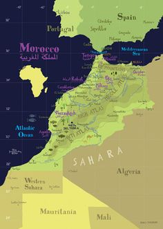 Illustrated Map of Morocco