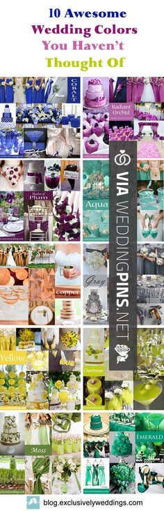 Awesome - Wedding Colour Schemes 2016 - 10 Awesome Wedding Colors You Havent…