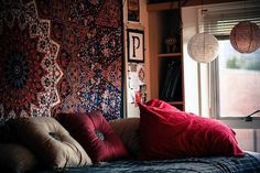 Moroccan or bohemian college dorm room inspiration
