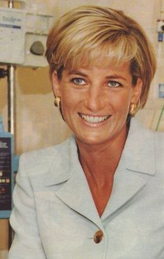 Princess Diana - at the hospital making friends :]