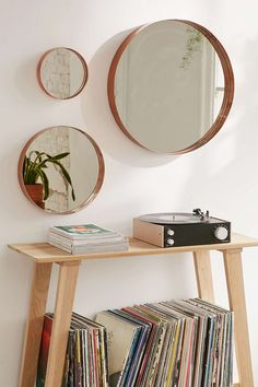 Averly Medium Circle Mirror:: Mirrors for the centre room? Probably not three as its a bit naff, but one with some other arts stuff around?