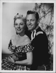 ESCAPE FROM FORT BRAVO (1953) - William Holden & Eleanor Parker - Directed by John Sturges - MGM - Publicity Still.