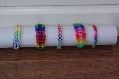 The rainbow kinda bracelets.