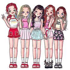 Embedded wendy red velvet, red velvet joy, red velvet irene, kpop f Wendy Red Velvet, Red Velvet Joy, Red Velvet Irene, Kpop Girl Groups, Korean Girl Groups, Kpop Girls, Girl Drawing Sketches, Kpop Drawings, Mini Comic
