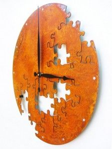 Amazing-Chic-And-Creative-Handmade-Wall-Clock-Art-Design-In-Puzzle-Wall-Clock-Design