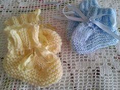 Damaris Fazendo Arte: Sapatinho de tricô para bebê