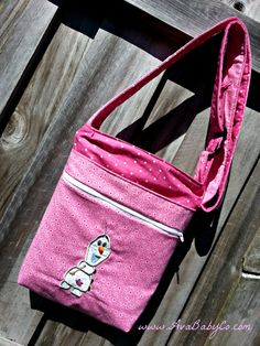Disney Frozen Olaf Inspired Crossbody Hipster Bag by AvaBabyCo, $42.00