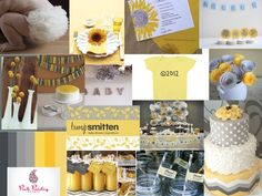 My clients inspiration board for her baby shower! Gender neutral colors!