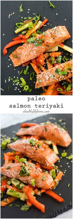 Paleo Salmon Teriyaki gluten free and dairy free healthy easy and ready in 20 minutes | ahealhtylifeforme.com