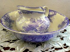 Jardiniere,Wash Bowl and Jug.