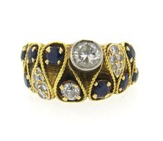 14k Gold 1.00ctw Diamond Sapphire Ring Featured in our upcoming auction on November 2, 2015 11:00AM EST!